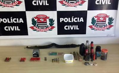 POLÍCIA CIVIL DE REGISTRO PRENDE UM HOMEM POR PORTE IRREGULAR DE MUNIÇÕES DE ARMA DE FOGO