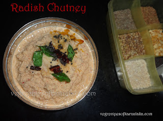 Radish chutney Recipe in Kannada