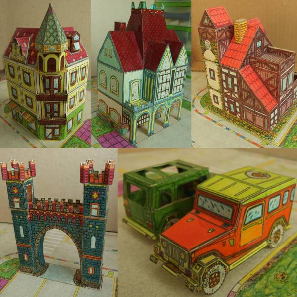 Hungarian Architecture & Vehicle Paper Models