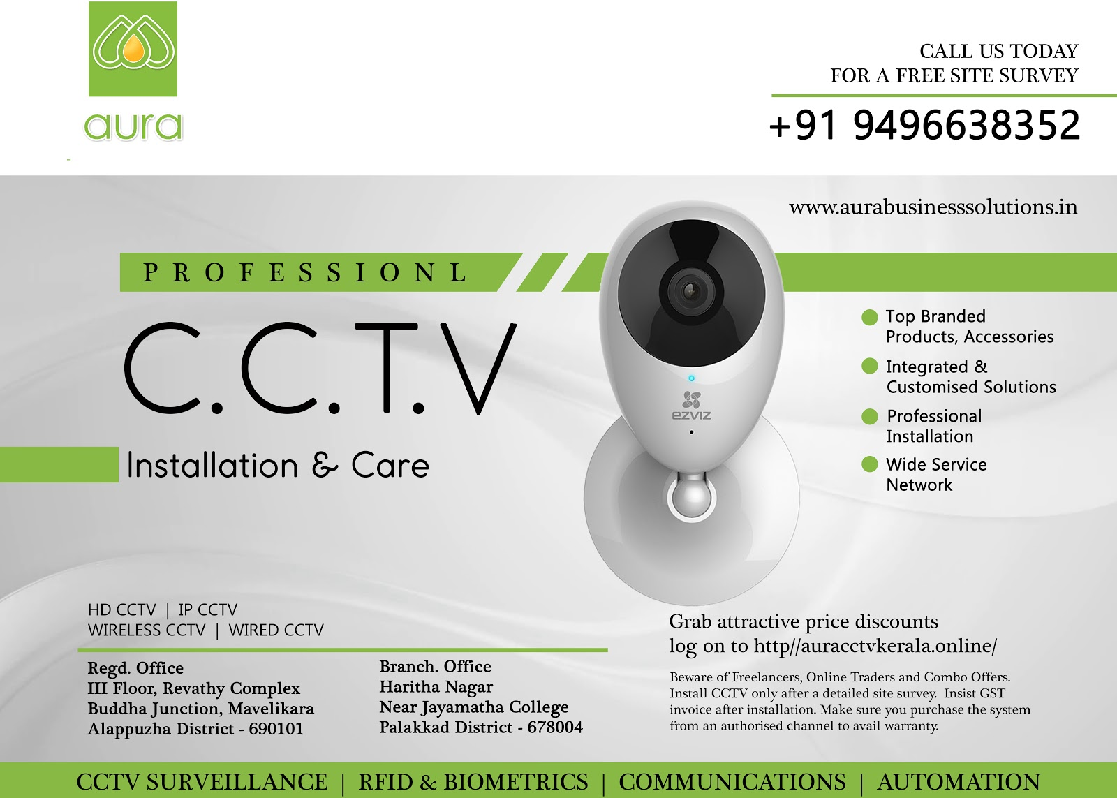 Top CCTV Installation Services in Kerala - Aura Business Solutions