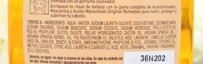 Garnier Original Remedies Argan y camelia ingredientes