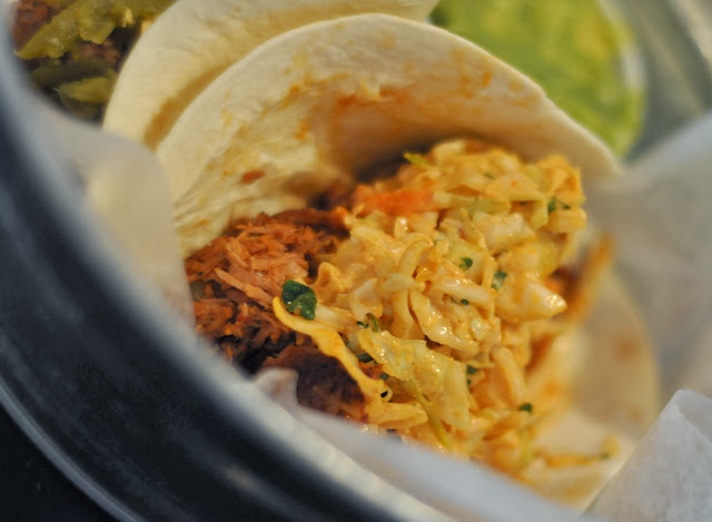 Korean Barbecue Pork Taco - Tin Lizzy's - Emory Point - Atlanta, GA | Taste As You Go