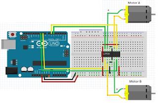Motor on Quadcopter Arduino Schematic