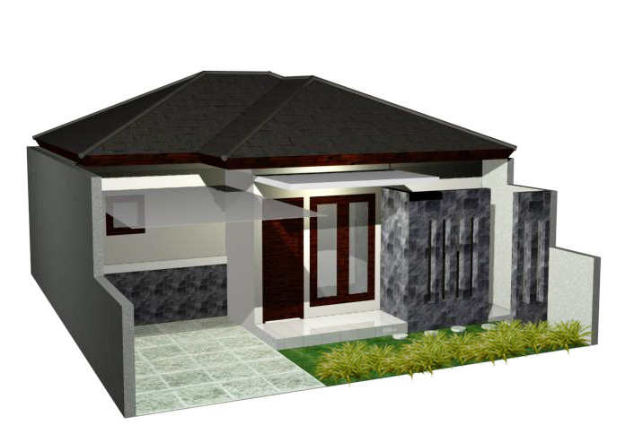 Rumah Minimalis 1 Lantai Ukuran 6x12