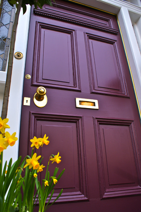 Front Door Painted In Farrow And Ball Brinjal Over On Modern Country Style: How To Pick The Perfect Front Door Paint!