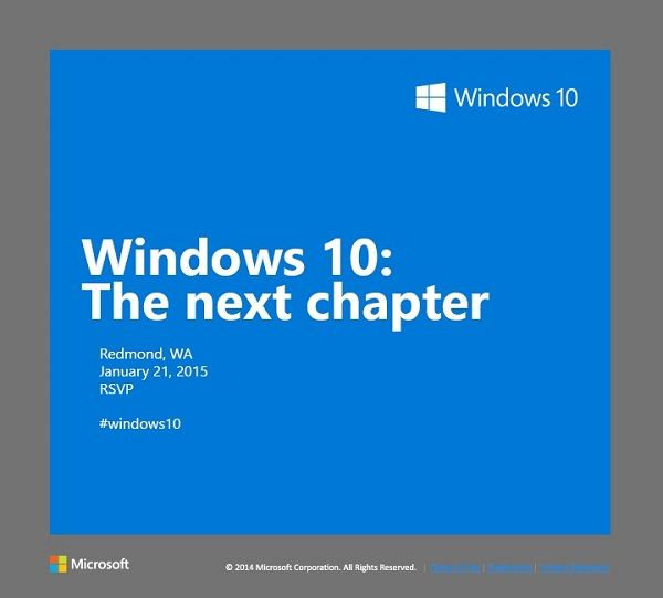 Windows 10 event invite