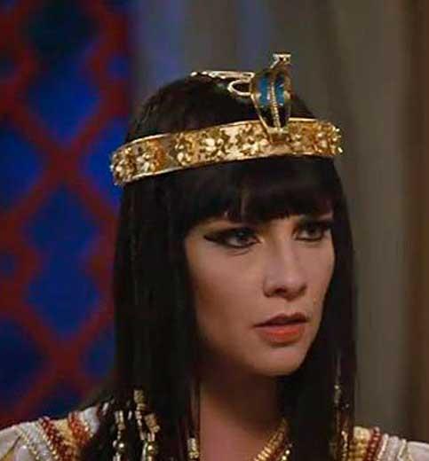 Nefertari Os dez mandamentos coroa de serpente