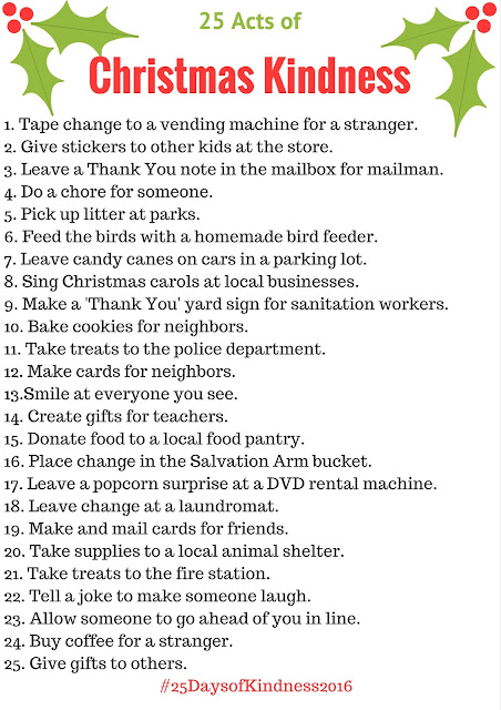 List of Christmas Kindness