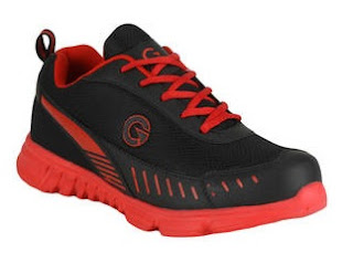 buy GLOBALITE Black and Red Sport Shoes at Rs.192 Only - Paytm