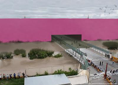 La gran entrada que Trump prometió dentro del muro fronterizo.Estudio 3.14