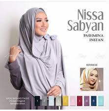 Model Jilbab Instan Nissa Sabyan Terbaru 2018