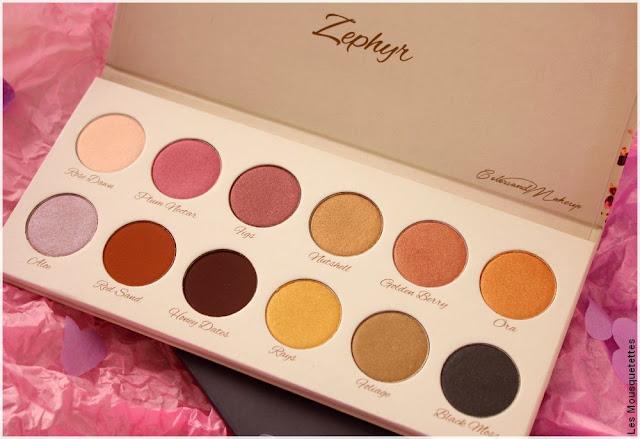ColorsandMakeup, palettes de fards à paupières Zephyr - Blog beauté