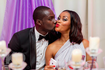 chris%2Band%2Bdamilola%2Badegbite Barely After 2 Years, Chris Attoh Confirms His Marriage To Damilola Adegbite Has Crashed Celebrities Entertainment