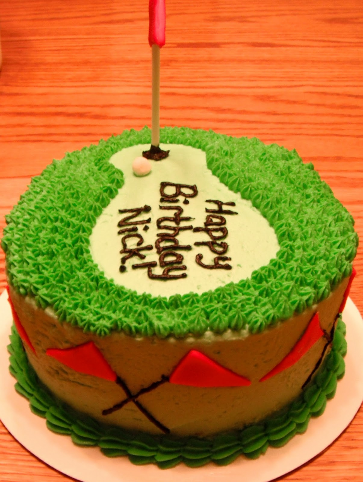 Scrapping Runner Creations Golf Cake