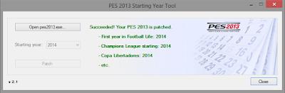 PES 2013 Starting Year Tool