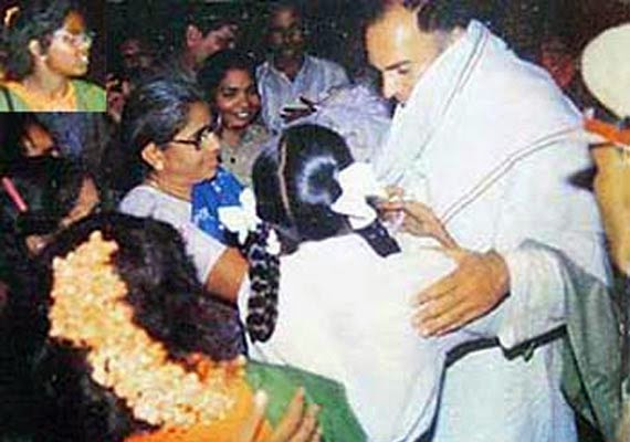 The assassination of Rajiv Gandhi by LTTE(Liberation Tigers of Tamil Eelam)