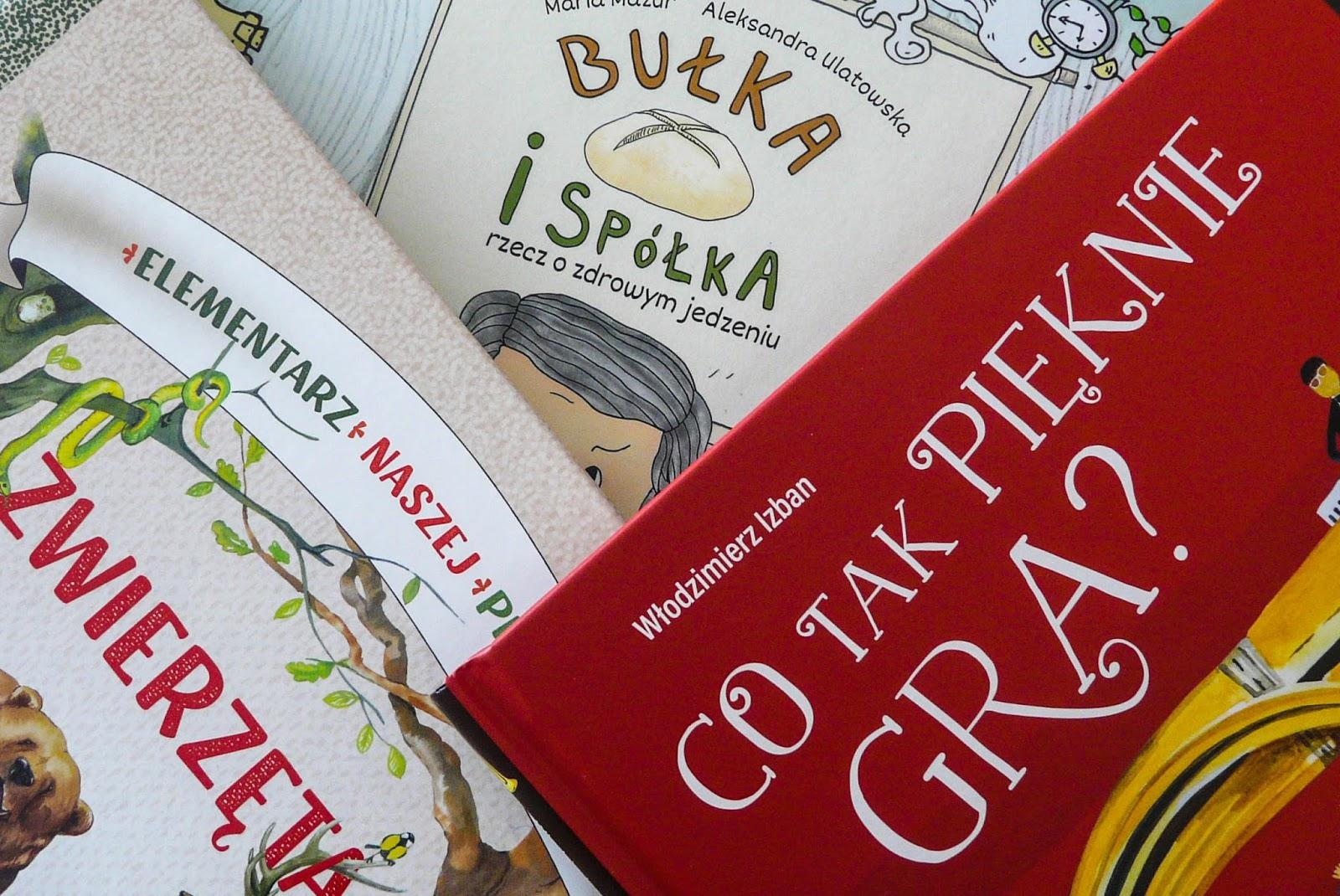 ciekawe książki edukacyjne dla dzieci - instrumenty, zwierzęta i zdrowe jedzenie