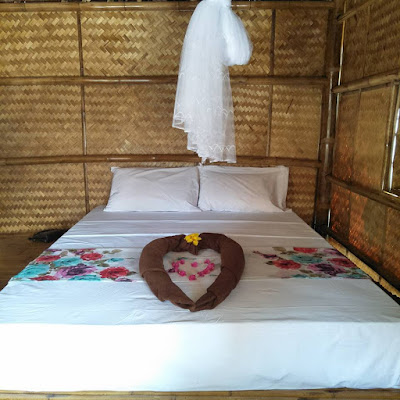 Photo of the interior of a bungalow from Bamboo Hut