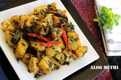 aloo methi aloo with fenugreek leaves methi chicken potatoes with  fenugreek leaves vegetable side dish indian recipes vegetarian side dishes