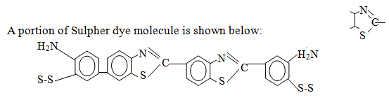 chemical structure of sulfur dyes