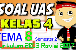 SOAL UAS KELAS 4 Semester 2 TEMA 8 K13/Kurikulum 2013 Revisi 2017