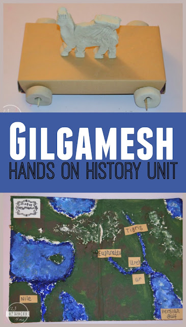 Gilgamesh - Hands on history unit for kids of all ages with lots of hands on activities (homeschool, history, kids activities)