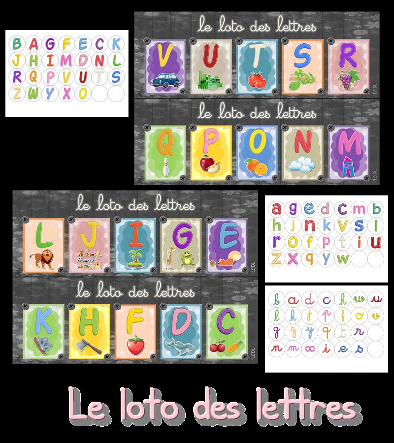 Préférence La maternelle de Laurène: loto des lettres WV45