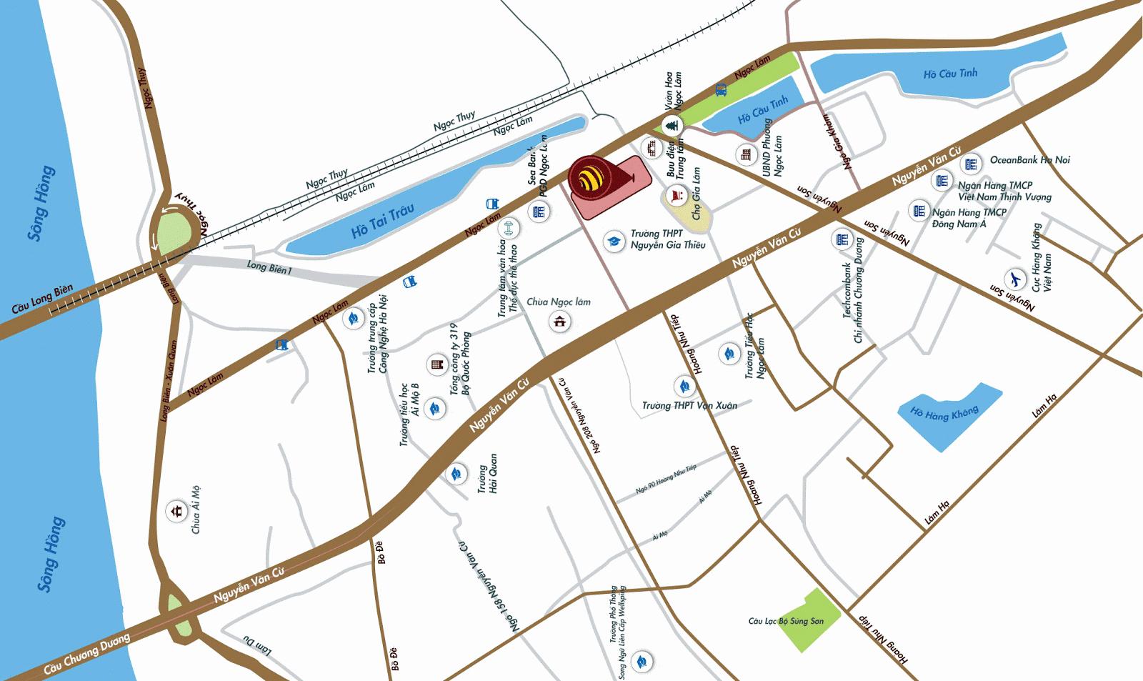 Vị trí dự án chung cư One 18 Long Biên