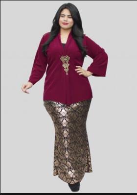 Model Kebaya Modern Untuk Wanita Gemuk Anggun
