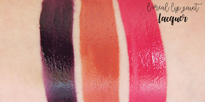 loreal lip paints lacquer swatches