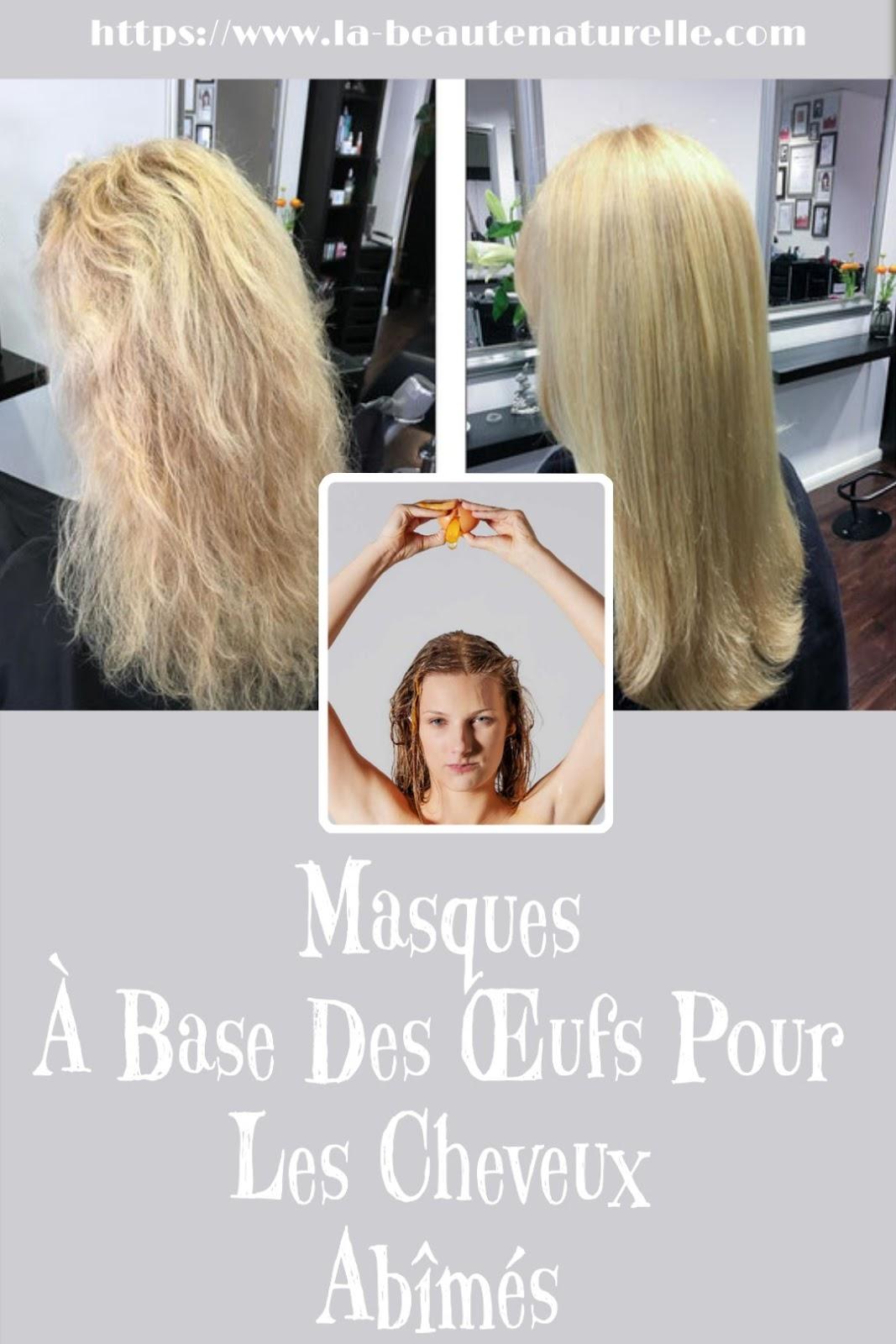 Masques À Base Des Œufs Pour Les Cheveux Abîmés