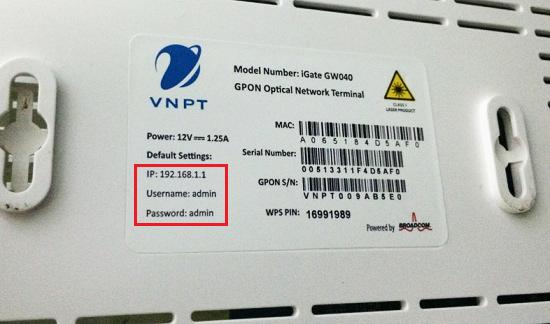 hướng dẫn đổi mật khẩu modem