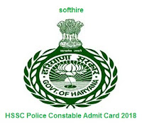 HSSC Police Constable Admit Card