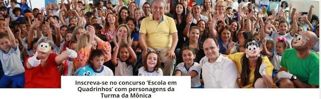 http://www.educacao.sp.gov.br/destaque-home/educacao-lanca-concurso-escola-em-quadrinhos-com-personagens-da-turma-da-monica/