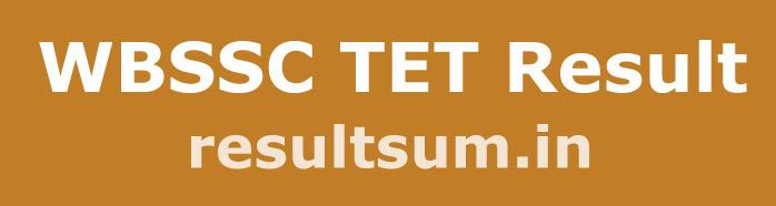 WBSSC TET Result 2015