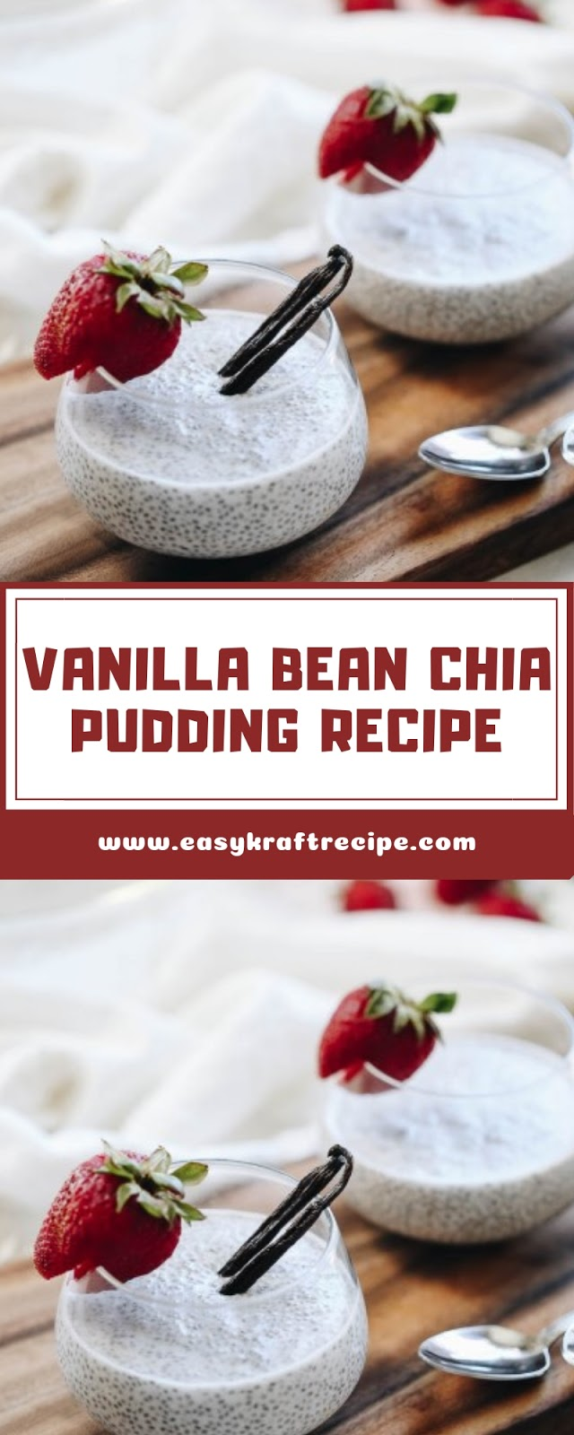 VANILLA BEAN CHIA PUDDING RECIPE