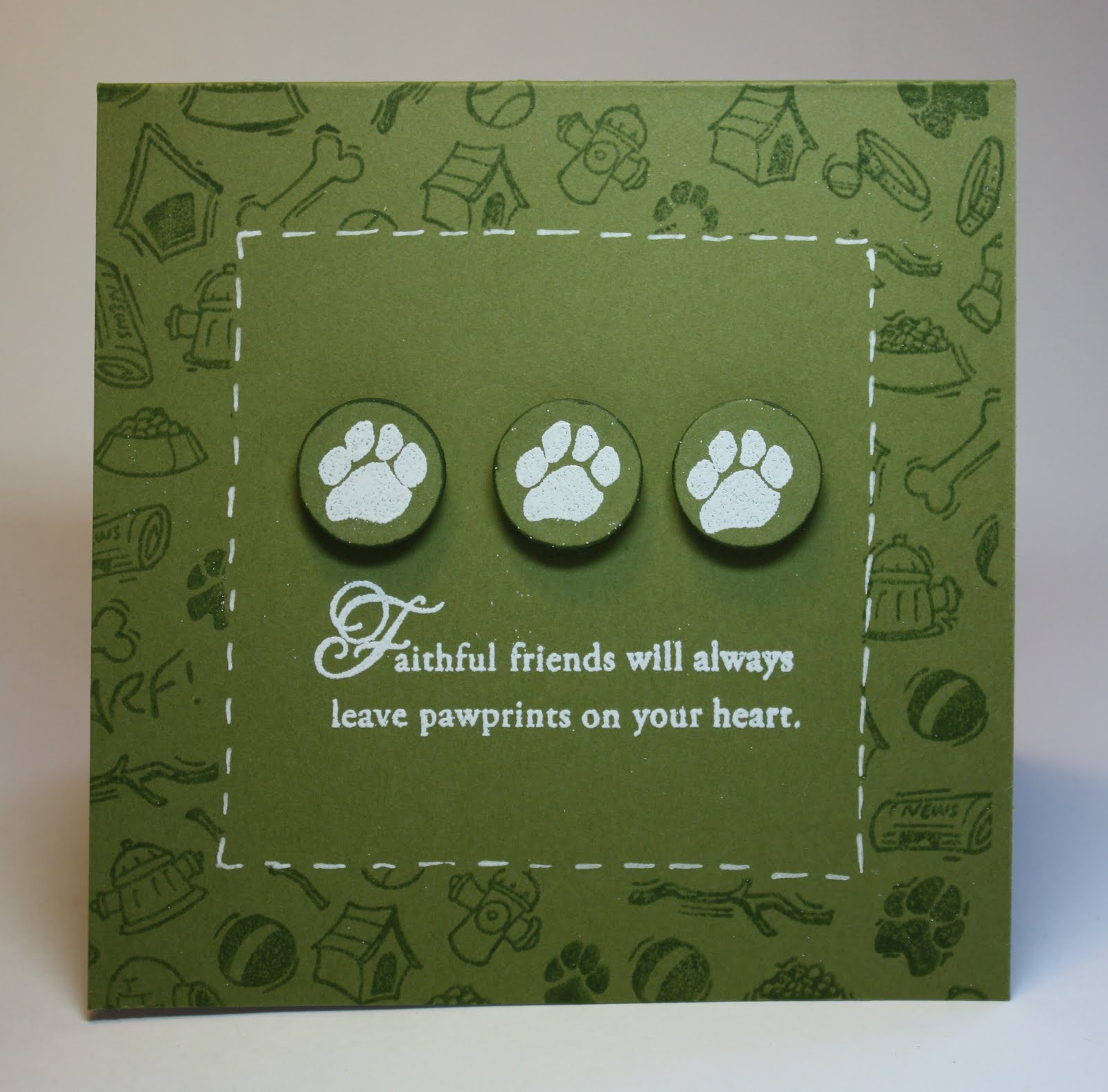 thimbles bobbins paper and ink clean and simple dog sympathy card