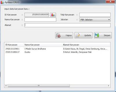 Membuat Aplikasi Crud Dengan Vb.Net Dan Database Microsoft Access