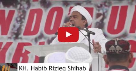VIDEO: Isi Khutbah Habib Rizieq Saat Aksi 212 Ini Sungguh Menggetarkan