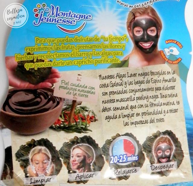 Mascarilla alga negra Montagne Jeunesse Mercadona
