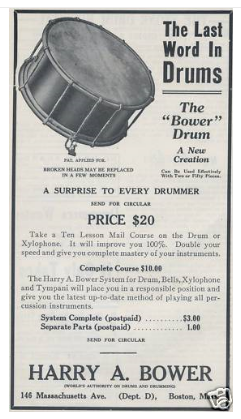1917 Harry A. Bower Drum Advertisement