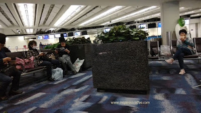 Ruang tunggu di Arrival Area Bandara Internasional Hongkong