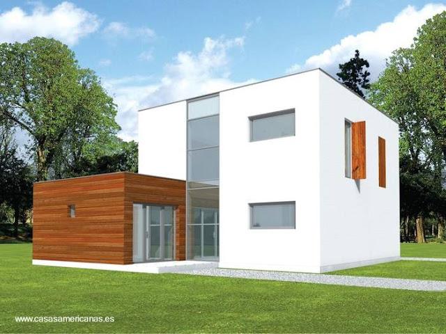 Renderizado de un proyecto de casa moderna americana