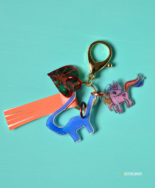 Fun summer kids craft key chain shrink plastic