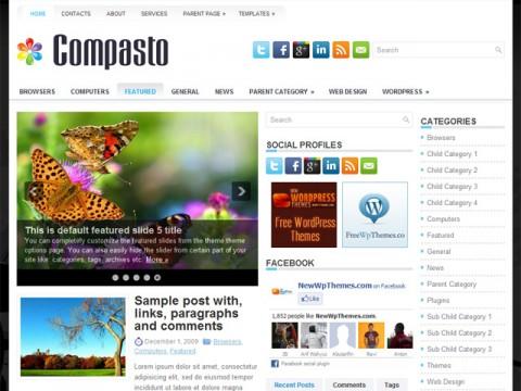 Free Compasto Beautiful General/Blog theme