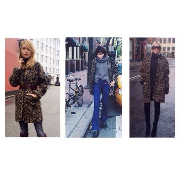 1250cc6c Olga Coat fra Ganni er poppis! Den leopardmønstrede jakken kan brukes  sammen med deilig strikkegensere som en hvinterjakke, eller kombiner den  med en ...