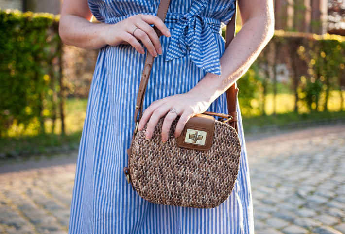 Zara wicker box bag