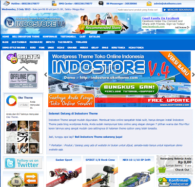Download Template/WP Indostore Versi 4.1 Gratis update terbaru