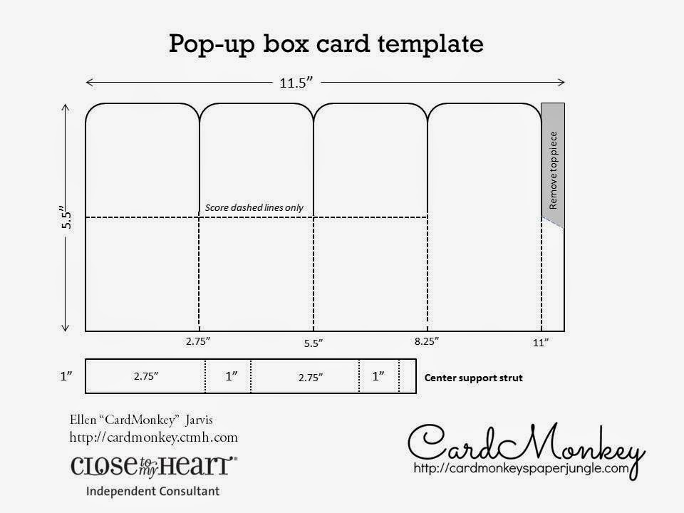 CardMonkey\u0027s Paper Jungle Create Custom Pop-Up Cards for Ooohs and - template for cards