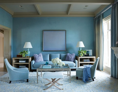 You Don T Always Have To Resort White Trim This Room Has Beautiful Sunny Blue Walls With A Champagne Color And It Works